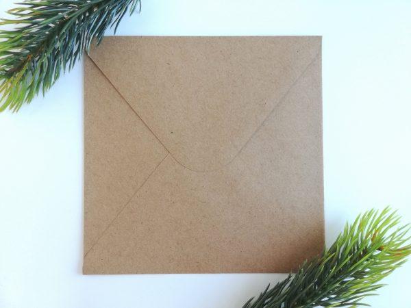 Duurzame kraft envelop vierkant