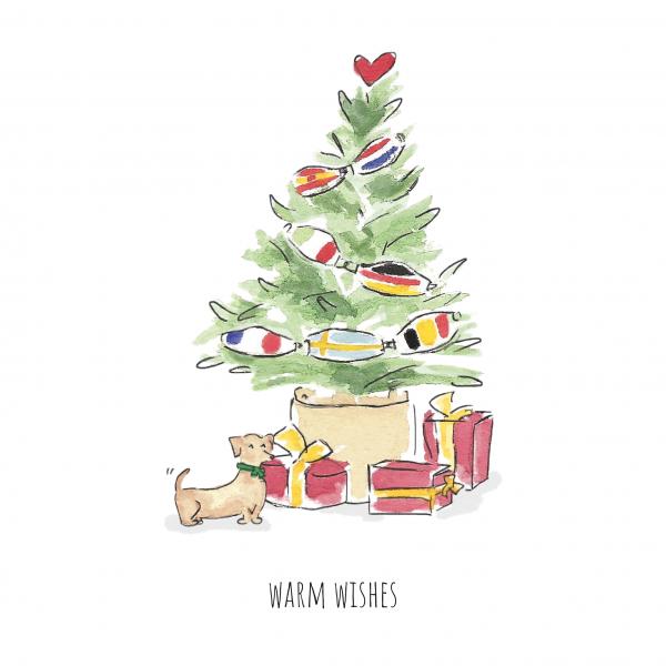 Kerstkaart 'warm wishes'