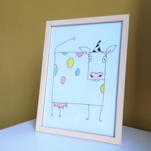 A4 print geometrische koe